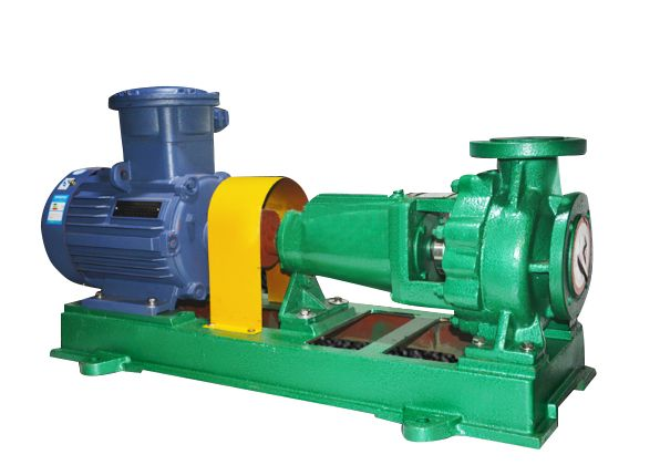 Single-stage single-suction fluoroplastic alloy chemical centrifugal pump-IHF